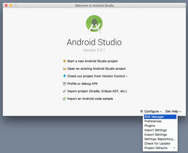 Cai dat Android SDK update
