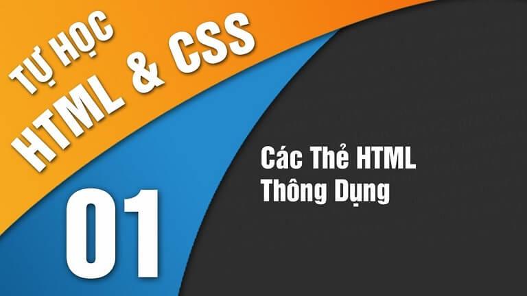 Học HTML và CSS cơ bản