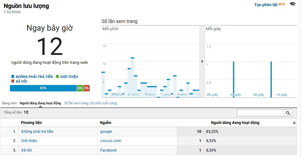 Cách xem traffic website