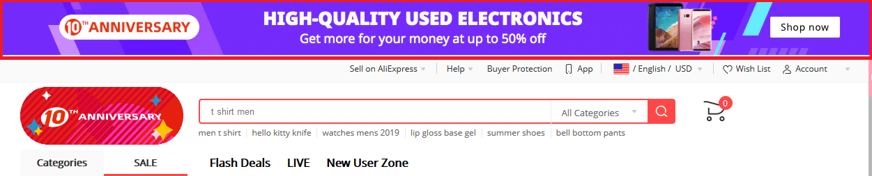 Sản phẩm giảm giá trên AliExpress