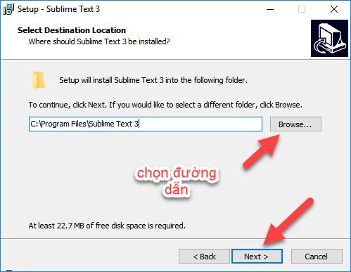 Cài đặt Subline Text 3 - step 2